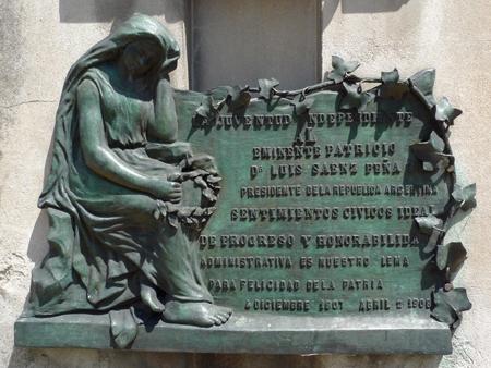Luis Saénz Peña, Recoleta Cemetery
