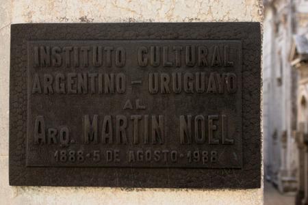 Martín Noel, Recoleta Cemetery