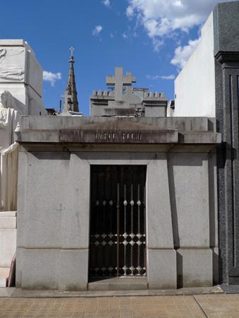 Dardo Rocha, Recoleta Cemetery