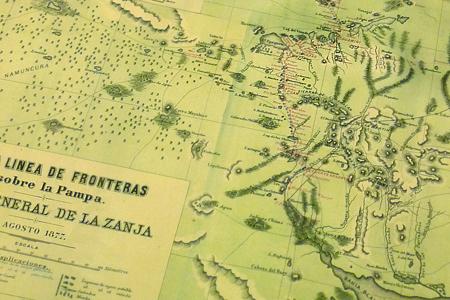 Zanja de Alsina map, Museo de la Patagonia