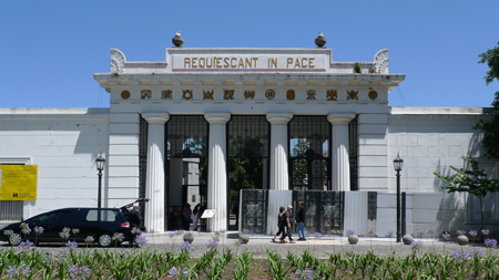 Entrance gate, Recoleta Cemetery