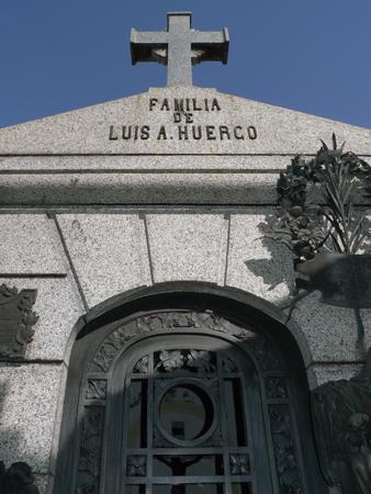 Luis Huergo, Recoleta Cemetery