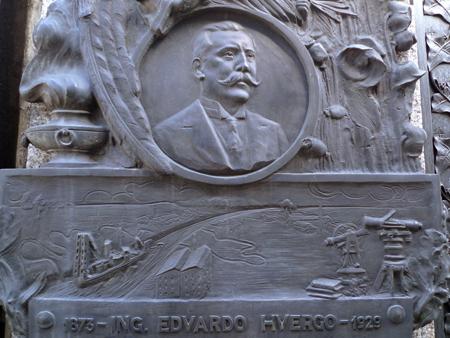Eduardo Huergo, Recoleta Cemetery