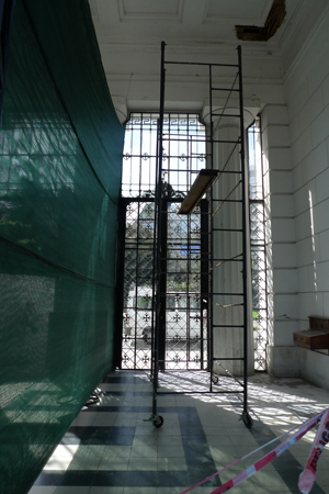 Entrance gate rain damage, Recoleta Cemetery