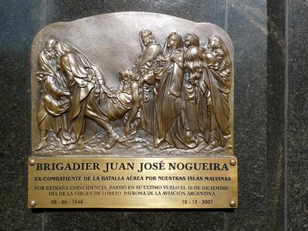 Brigadier Juan José Nogueira, Recoleta Cemetery