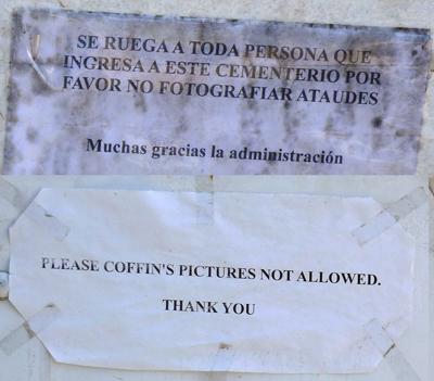 Recoleta Cemetery, new regulation
