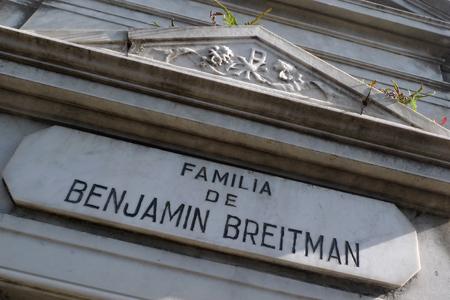 Benjamín Breitman, Recoleta Cemetery, Buenos Aires