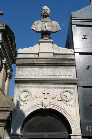David Alleno, Recoleta Cemetery