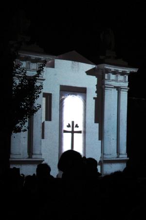 Buenos Aires, Recoleta Cemetery, La Noche en Vela, videoprojection