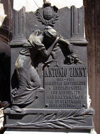 Recoleta Cemetery, Buenos Aires, Antonio Zinny