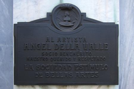 Recoleta Cemetery, Buenos Aires, Palma, Ángel della Valle