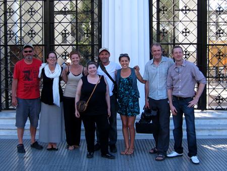 Recoleta Cemetery, Globe Trekker crew, Judith, Robert Wright