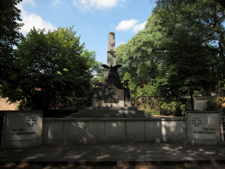 Cementerio Alemán, World War monument