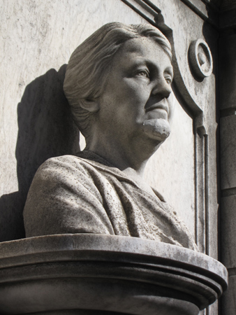 Recoleta Cemetery, Buenos Aires, bust