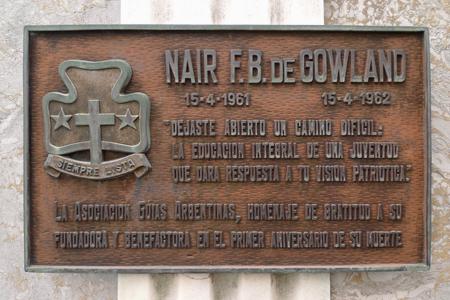Recoleta Cemetery, Buenos Aires, Naír F.B. de Gowland
