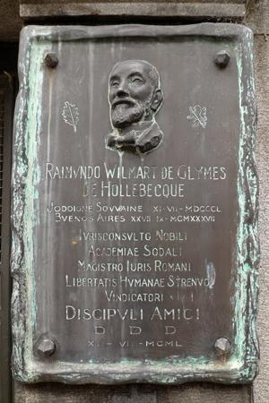Recoleta Cemetery, Buenos Aires, Raimundo Wilmart de Glymes de Hollebecque