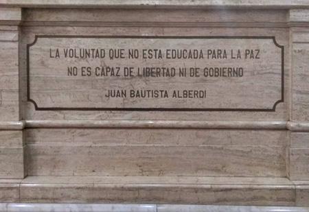 Helena Sálico, Juan Bautista Alberdi, Tucumán, casa de gobierno