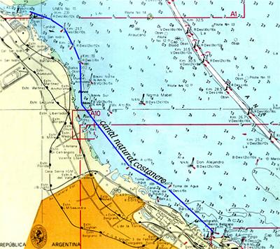 Canal Emilio Mitre map