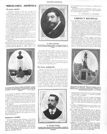 Buenos Aires, Recoleta Cemetery, Manuel J. Campos, José Llaneces, Mundo Gráfico