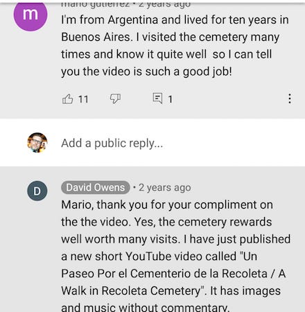 YouTube, comments
