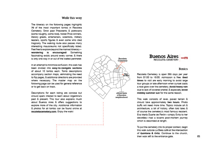 PDF guidebook to Recoleta Cemetery