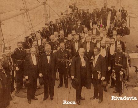 Roca & Martín Rivadavia, onboard Belgrano