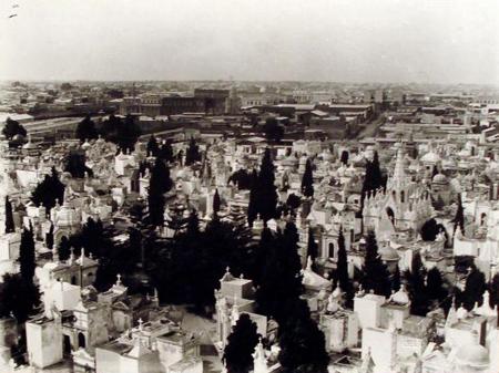 Recoleta Cemetery, Buenos Aires, historic photo, Witcomb