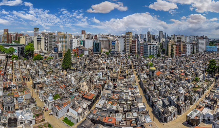 Buenos Aires, Recoleta Cemetery, aerial view, drone, AirPano