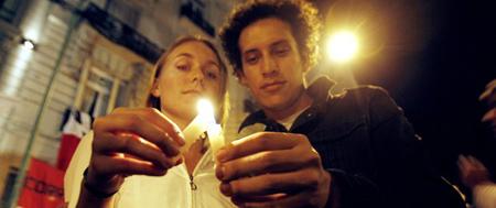 La muerte de Alfonsín, Avenida Santa Fe, Buenos Aires