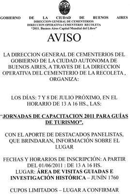 Buenos Aires, Recoleta Cemetery, capacitación 2011
