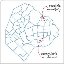 Cementerio del Sur, Buenos Aires, map