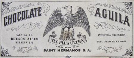 Recoleta Cemetery, Emilio Saint, Aguila chocolate