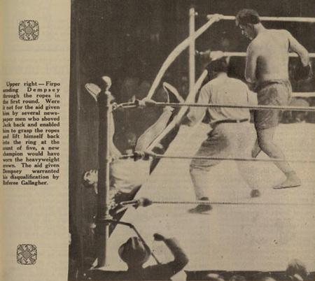 Firpo-Dempsey fight, 1923