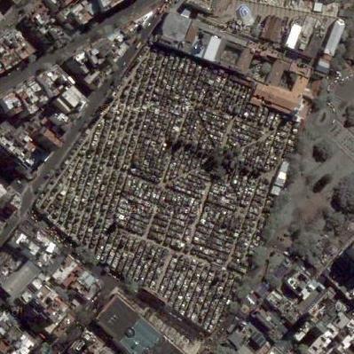 Google maps, Recoleta Cemetery