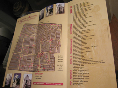 2003 gobBsAs map, Recoleta Cemetery