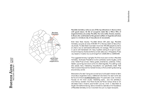 Map development 7, PDF Recoleta Cemetery