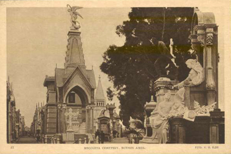 Recoleta Cemetery, H.G. Olds, historic photo