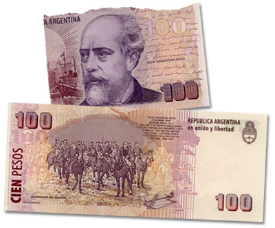 100 peso note, Roca