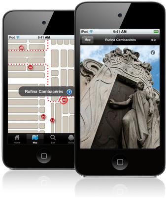 Rufina Cambacérès, Recoleta Cemetery app, screenshot