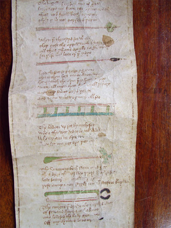 14th century text, Lancashire